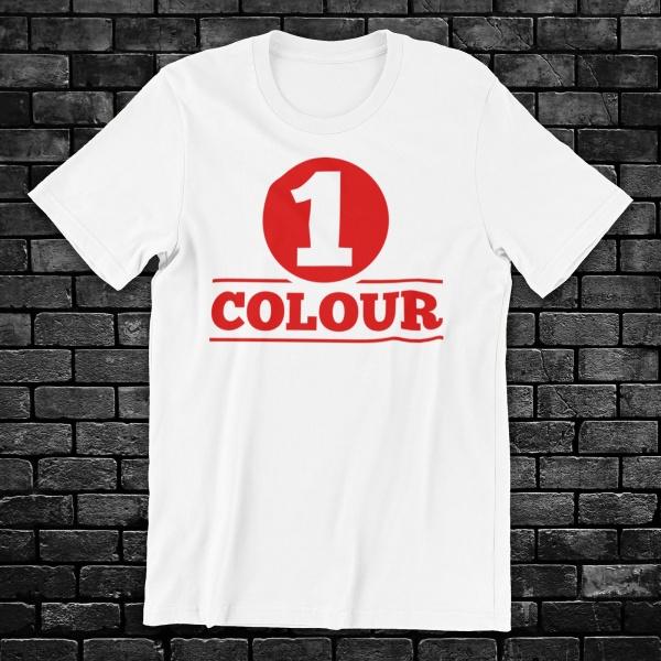 White T Shirt Screen Print...