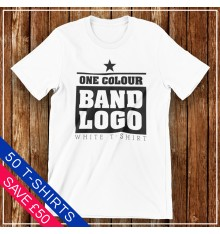 White T Shirt Band Package Deals