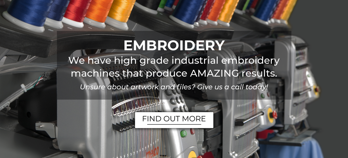 broidery service will make your company or team uniforms look amazing!