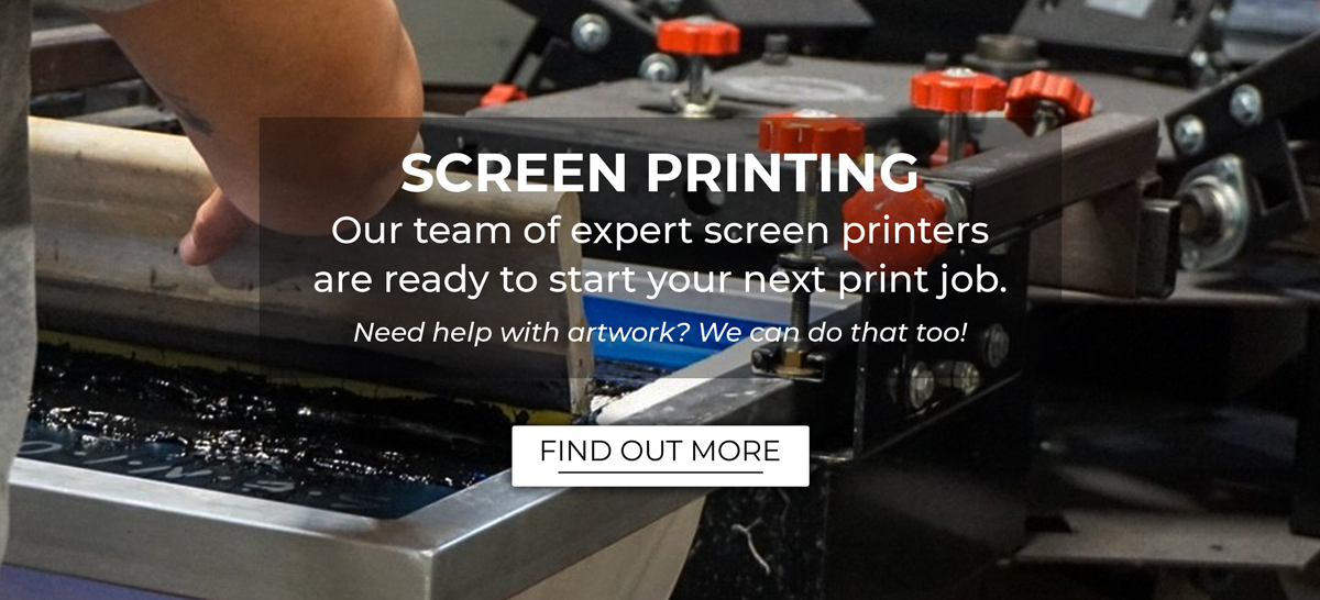 We have a great team of screen printers ready to start on your next order.